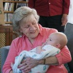 visiting with Great Grandma Casey