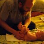 relaxing massage with Daddy