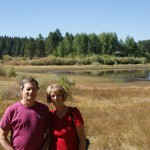 Grandma and Grandpa at Spooner Lake